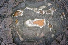 夏威夷黑熔岩岸 库存图片