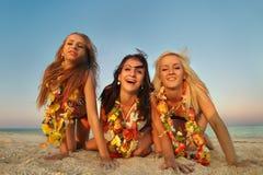 夏威夷Hula舞蹈演员女孩 图库摄影