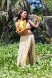 夏威夷hula舞蹈演员 免版税库存图片