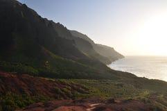 夏威夷kalalau考艾岛线索 库存图片