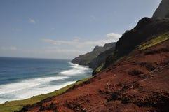 夏威夷kalalau考艾岛线索 免版税库存图片