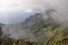 夏威夷kalalau考艾岛谷 免版税图库摄影
