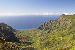 夏威夷kalalau考艾岛谷 免版税库存图片