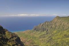 夏威夷kalalau考艾岛谷 库存照片