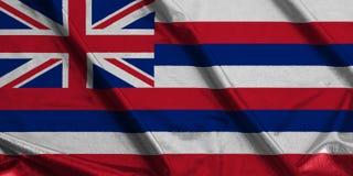 夏威夷U挥动的旗子  S 状态旗子 库存例证