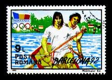 夏季奥运会,巴塞罗那1992年, serie,大约1992年 图库摄影