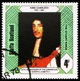 夏尔二世・德・波旁,斯图尔特国王,英国女王伊丽莎白二世,斯塔法岛苏格兰serie的加冕的第25周年国王,大约1978年 免版税库存照片
