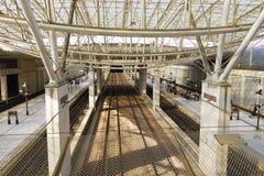 巴黎夏尔・戴高乐机场内部 库存图片