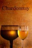 夏得乃白酒白葡萄酒 库存照片