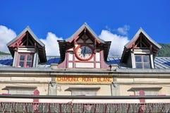 夏慕尼勃朗峰火车站 库存图片