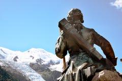 夏慕尼在法国阿尔卑斯 免版税库存图片