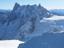 夏慕尼法国,南针峰,勃朗峰 免版税库存图片