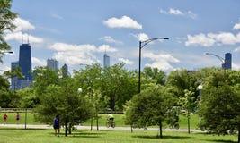 夏日在林肯公园 库存照片
