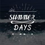 夏日手书面字法 库存照片