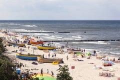 夏日的波罗的海。 库存照片