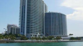 夏日迈阿密海滩生活块海洋海湾通行证4k美国 股票录像