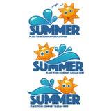 夏时、水的传染媒介汇集和太阳 皇族释放例证