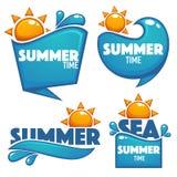 夏时、水的传染媒介汇集和太阳 库存例证