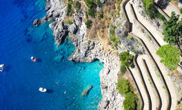 夏时在卡普里岛海岛,意大利 库存照片