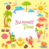 夏时框架 免版税图库摄影