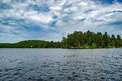 夏时湖 库存照片