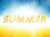 夏时背景友好的新的颜色大胆的字体 向量例证