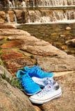 夏时运动鞋 免版税库存图片