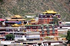夏河的,中国拉卜楞修道院 免版税图库摄影