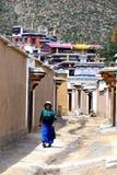 夏河的,中国拉卜楞修道院 库存照片