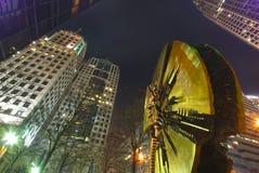 夏洛特街市在晚上 免版税图库摄影