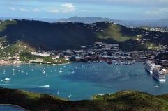 夏洛特Amalie一个地区看法在圣托马斯 免版税库存照片