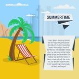 夏令时旅行的模板 免版税库存图片