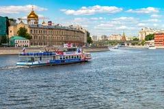 夏令时都市风景在俄罗斯莫斯科的首都 库存图片
