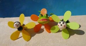 夏令时beachparty海滩乐趣cocosnut水池 免版税库存照片
