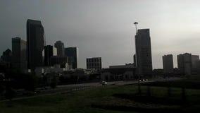 夏洛特市地平线和早晨通勤 股票视频