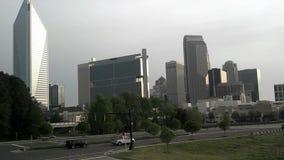 夏洛特市地平线和早晨通勤 股票录像