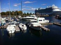 夏洛特敦小游艇船坞船坞 免版税图库摄影