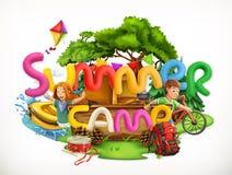 夏令营 暑假传染媒介例证 向量例证