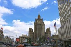 外交部的大厦在莫斯科 免版税库存照片