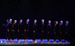 外人这偏僻的舞蹈家现代舞蹈 免版税库存图片