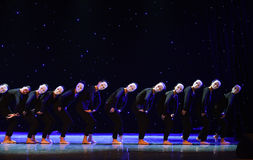 外人这偏僻的舞蹈家现代舞蹈 库存图片