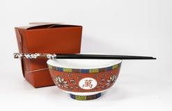 外卖中国的食物 免版税库存图片