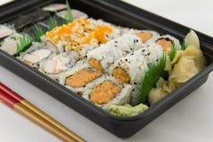外卖的寿司 免版税库存照片