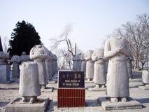 外国大使石雕象没有头的沿迁陵陵墓,羡,中国精神方式  库存图片