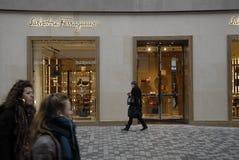 外国奢侈品商店在哥本哈根 免版税库存图片