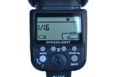 外在Speedlight显示 免版税库存照片