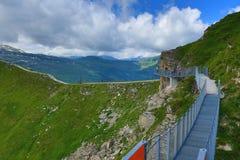外型,从Stubnerkogel,坏Gastein,缆索铁路,奥地利的方式 免版税库存照片