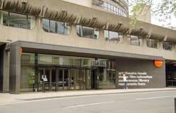 外堡艺术中心,丝绸街道入口,伦敦 免版税库存图片