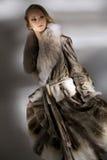 外套毛皮妇女 免版税库存图片