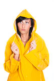 外套黄色 免版税库存照片